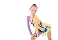 Красивый   гимнаст девушки Стоковые Фото