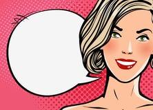 Красивый говорить девушки или молодой женщины говорит перл макроса имитировать поля детали глубины контейнера принципиальной схем иллюстрация вектора