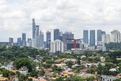 Красивый горизонт Куалаа-Лумпур Стоковая Фотография