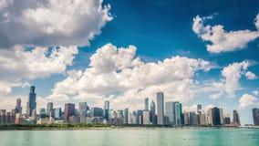 Красивый горизонт Чикаго, Иллинойса сток-видео