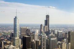 Красивый горизонт Чикаго, Иллинойса Стоковые Фотографии RF