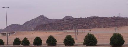 Красивый горный вид в Саудовской Аравии стоковые фото