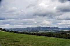 Красивый горный вид Стоковые Изображения RF