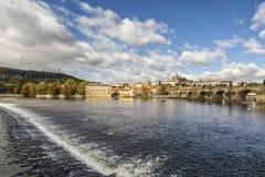 Красивый городской пейзаж в Праге Стоковые Изображения