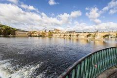 Красивый городской пейзаж в Праге Стоковые Изображения RF