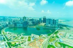 Красивый городской пейзаж здания архитектуры в Макао стоковое фото