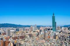 Красивый город Тайбэя здания архитектуры стоковые фотографии rf