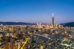 Красивый город Тайбэя здания архитектуры стоковая фотография