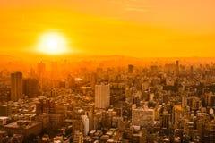 Красивый город Тайбэя здания архитектуры стоковое фото rf