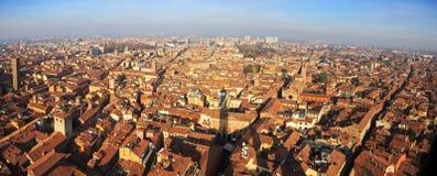 Красивый город болонья, Италии сверху Стоковые Фото