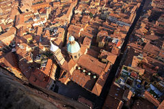 Красивый город болонья, Италии сверху Стоковая Фотография