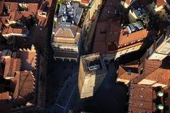 Красивый город болонья, Италии сверху Стоковые Фотографии RF