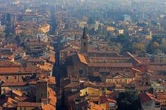 Красивый город болонья, Италии сверху Стоковая Фотография RF