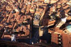 Красивый город болонья, Италии сверху Стоковое Изображение