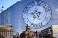 Красивый город Далласа Техаса Стоковые Изображения RF