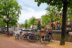 Красивый городской пейзаж Амстердама Стоковое Изображение