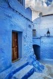 Красивый голубой medina Chefchaouen в Марокко Стоковое Фото