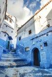 Красивый голубой medina Chefchaouen в Марокко Стоковые Фото