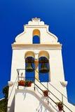 Красивый греческий церков-висок на острове Корфу-Греции Скит Vlacherna стоковая фотография
