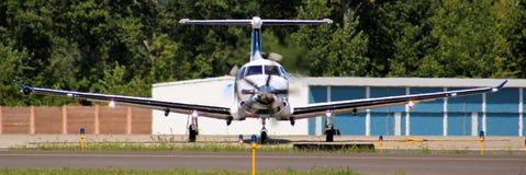 Красивый двигатель turbo частного самолета Стоковые Изображения