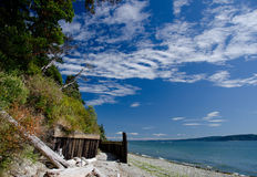 Красивый день на пляже Cama Стоковые Изображения