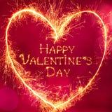 Красивый день ` s валентинки поздравительной открытки счастливый Стоковые Изображения RF