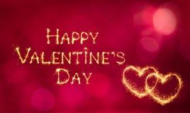 Красивый день ` s валентинки поздравительной открытки счастливый Стоковая Фотография
