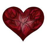 Красивый дизайн сердца валентинки, открытка стоковые фото