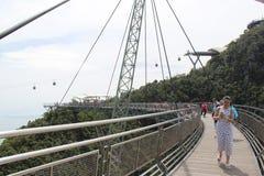 Красивый длинный мост неба langkawi стоковое изображение rf