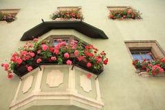 Красивый дом в деревне Kufstein в Австрии Стоковые Фотографии RF