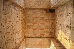 Красивый древний храм medina-Habu Египет, Луксор стоковые изображения rf