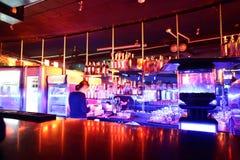 Красивый европейский интерьер ночного клуба Стоковые Изображения