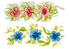 Красивый декоративный орнамент с большими цветками Стоковое фото RF