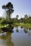 Красивый день в парке города. Стоковые Фото