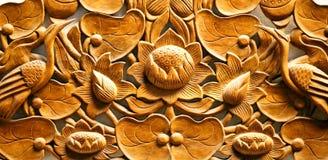 Красивый деревянный высекать стоковое изображение rf