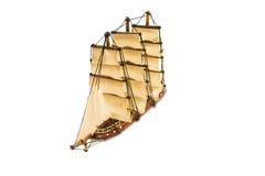 Красивый деревянный корабль Стоковые Фотографии RF