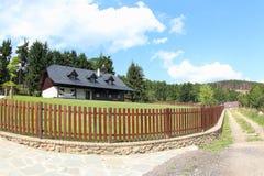 Красивый деревянный дом, чехия Стоковое Изображение