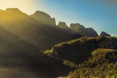Красивый естественный ландшафт в зимнем времени в Таиланде Стоковое Изображение RF
