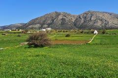 Красивый естественный ландшафт с традиционной белой церковью стоковое фото
