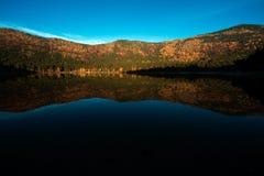 Красивый лес отражая на спокойном озере Стоковые Изображения