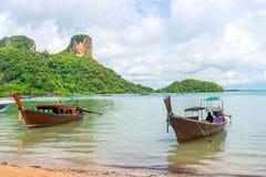 Красивый залив Таиланда, деревянных шлюпок Стоковое Фото