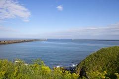 Красивый залив Whitley стоковые фото