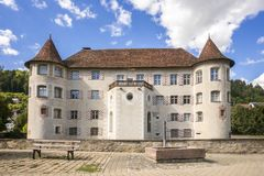 красивый замок воды на Glatt Германии стоковая фотография