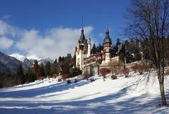 Красивый замок зимы Стоковые Фотографии RF