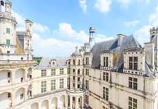 Красивый замок расположен в отделе Луар-et-Шера Стоковые Изображения RF