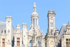 Красивый замок расположен в отделе Луар-et-Шера Стоковое Изображение RF