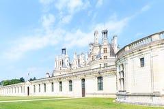 Красивый замок расположен в отделе Луар-et-Шера Стоковая Фотография RF