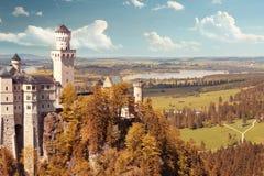 Красивый замок фантазии Стоковое Изображение