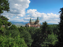 Красивый замок Bojnice Стоковые Фото