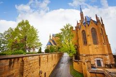 Красивый замок Hohenzollern от внутреннего двора Стоковое Изображение RF